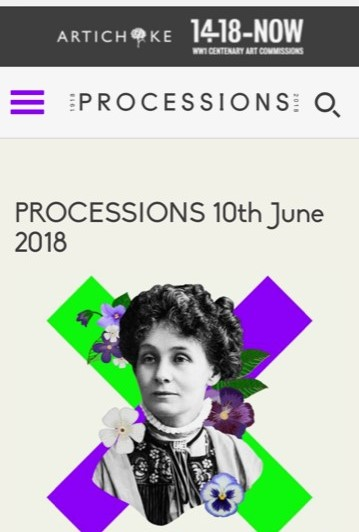 processions mobile page